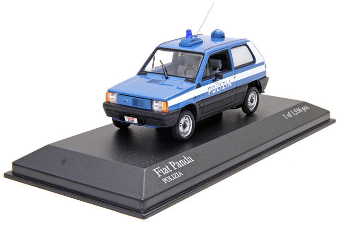 MiniChamps - 1:43 - Fiat Panda Polizia 1980 - Limited Edition or 1,536 pcs.
