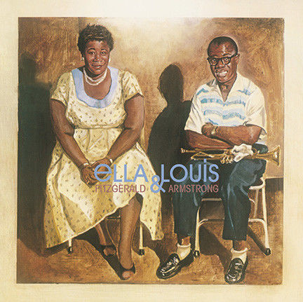 Lots of 4 Albums By Louis Armstrong, Ella Fitzgerald & Louis Armstrong, Duke Ellington and Louis Armstrong,
