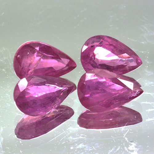 4 Pink Ruby - 2.19 ct. - No Reserve Price