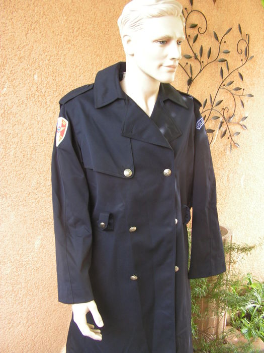 Raincoat 3/4 former French air and border police circa1988