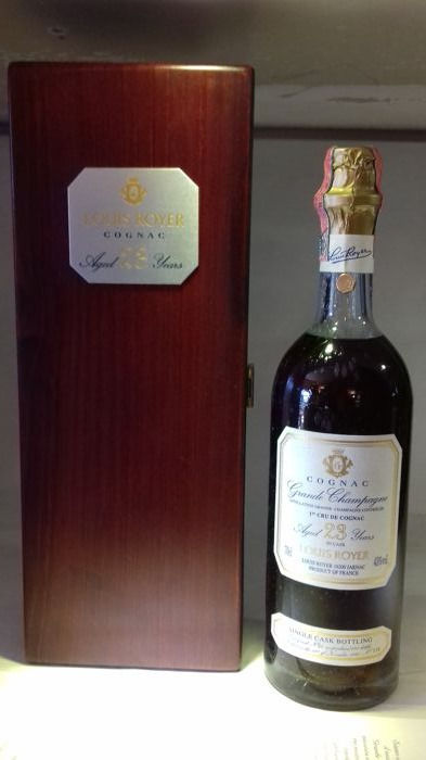 1er Cru Cognac Louis Royer 23yo 43%, Harvest 1974 - in deluxe OWC
