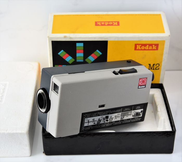 "1965   KODAK  'Instamatic M""'  Super-8 Movie Camera."