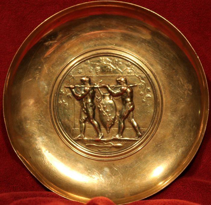 Bronze Barbedienne dish by Ferdinand Levillain (1837-1905)