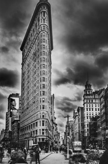 Paul Robert (1955-)  - Flat Iron building x 2, New York, 2016