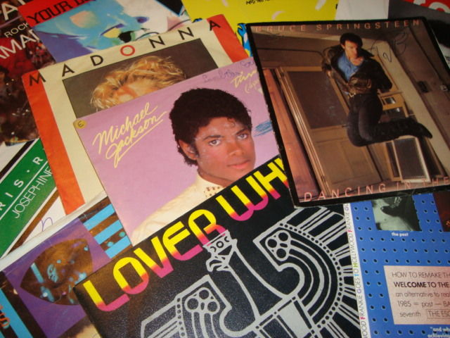 """Best Of The 80's II 50x 7"""" vinyl II Bruce Springsteen/ Frankie Goes To Hollywood/ Tina Turner/ Madonna/ Level 42/ Alphaville/ Michael Jackson... And Many Many More!"""