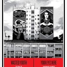 Shepard Fairey (OBEY) & D*Face - Wasted Youth / Your Eyes Here (CAC Malaga Edition)