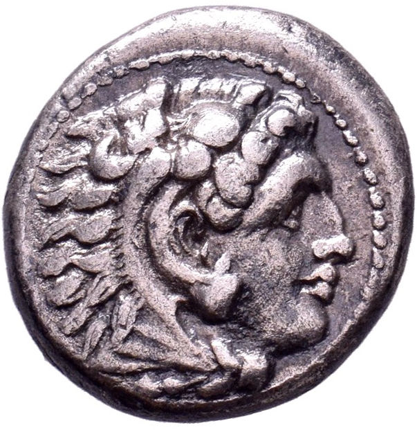 Greece (ancient) - Macedonia. Alexander III the Great (336-323 B.C.), AR Drachm, c. 325-323 BC. Miletos mint.