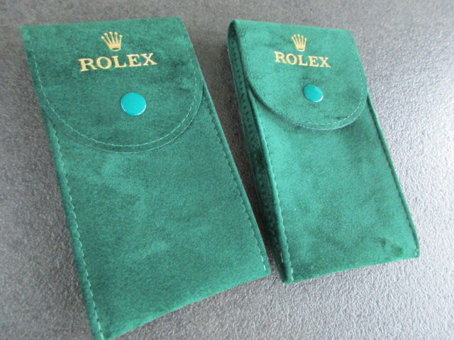 Rolex - 2 X Green Service Leather Watch Pouches/Etui's  - 50006036.64 - Unisex - 2011-presente