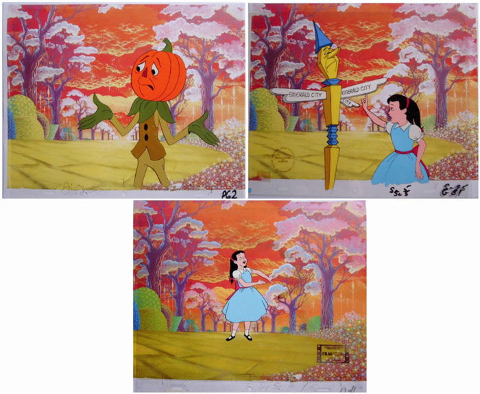 Journey back to OZ - 3x Animation cel set - Dorothy - Other - (1972)