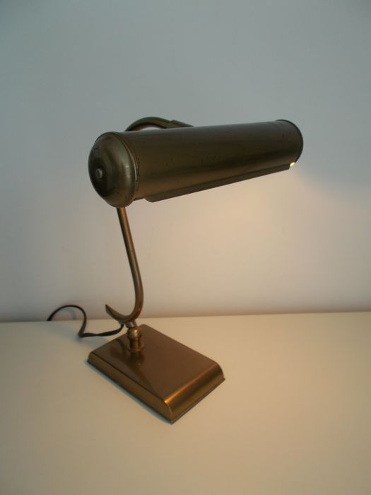 Bronze, adjustable piano lamp, 1940s