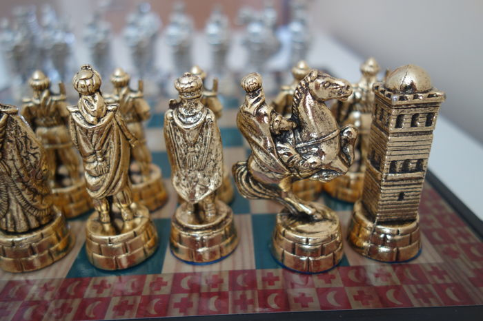"""Collection chess: """"Arabs and Crusaders"""" The Templars"""