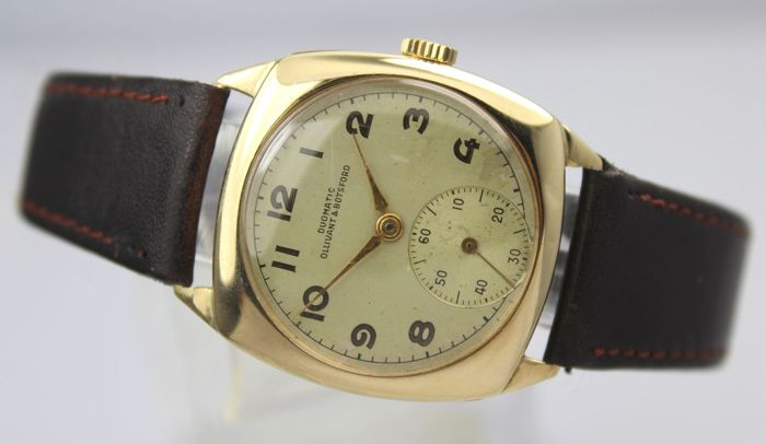Olivant & Botsford - 9 ct Gold Swiss made 17 Jewel Hallmark 1953 - Homme - 1950-1959