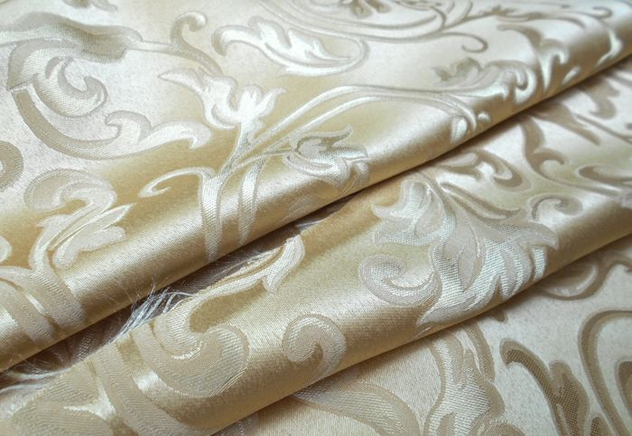 Large remnant of damask fabric without leaves pattern - 2.70 x 2.80 m - without reserve