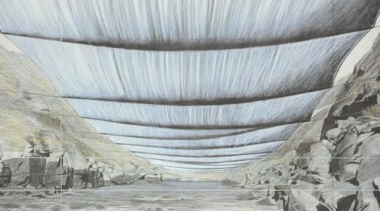 Christo (after) - Two graphics - over the river