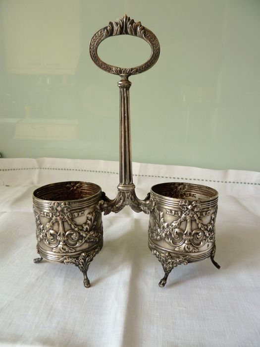Silver table serving set
