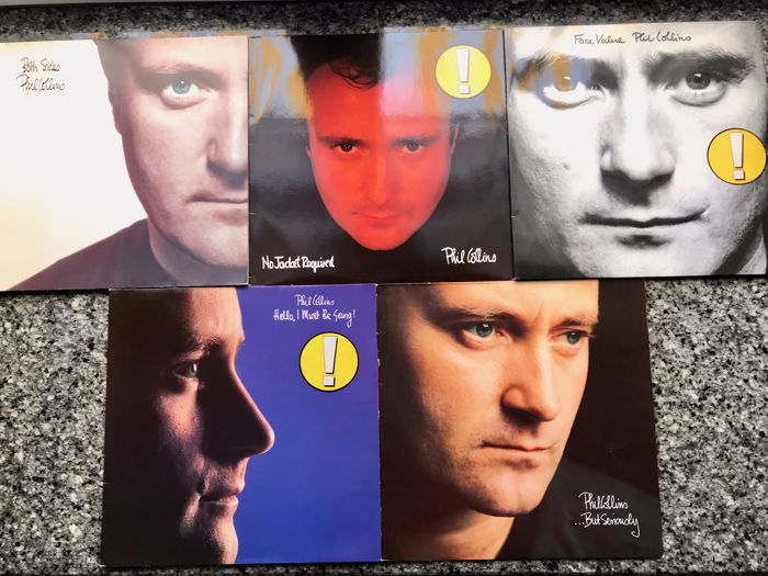 Phil Collins - lot of 5 early LP albums