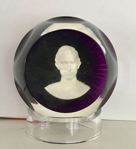 Baccarat paperweight - Royal Cameo collection 1976 Prince - Catawiki