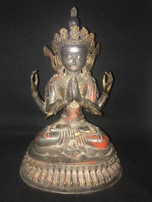 Large four armed  Avalokitesvara (44 cm) - Nepal - late 20th century