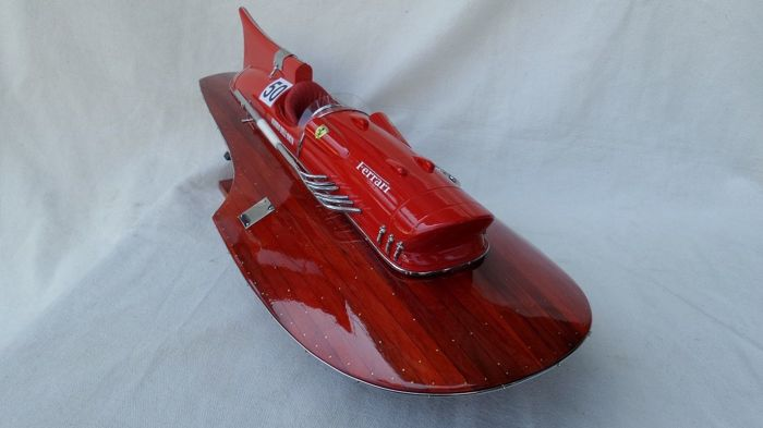 Scale boat model, Ferrari Arno IX 40cm fully wood Timossi - Mahogany, Wood - 2018
