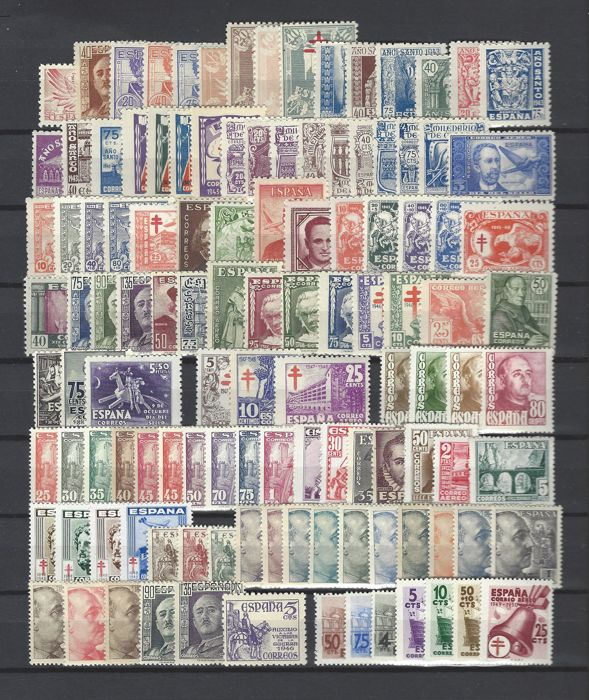 Spain 1942/1949 - Collection from year 1942 to 1949 (without Edifil No.1015/16 or NE60)