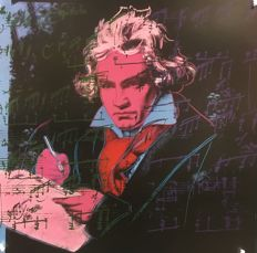 """Andy Warhol - Beethoven """"Blue"""" & """"Red"""" 1992"""
