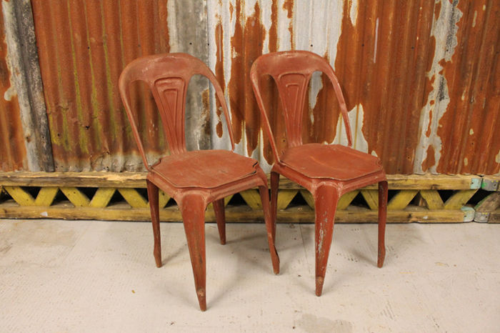 Fibrocit - Set of two bistro chairs, 1950s