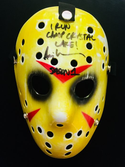 "Ari Lehman ( Jason ) - Authentic Signed  ""Friday 13th""  Mask - With Certificate of Authenticity BECKETT"