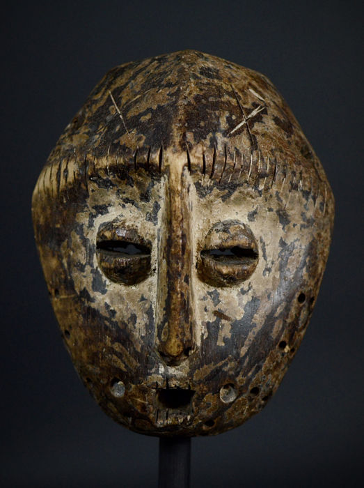 Old African Tribal LEGA Mask from the Bwami Society. Democratic Republic of the Congo.