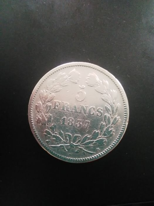 France - 5 Francs 1837-K Louis Philippe I - Silver