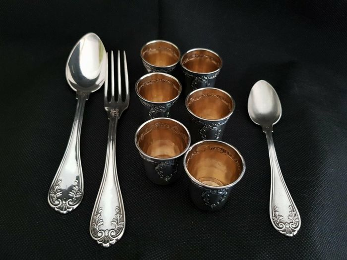 Set of French silverware