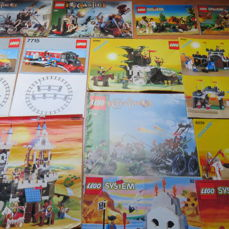 Assorted - Manuals - 66 x Lego Booklets - Castles, Trains, Pirates, Western, Ninja