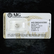 Natural Diamond - 1.22 ct, G / I3 - NO RESERVE PRICE