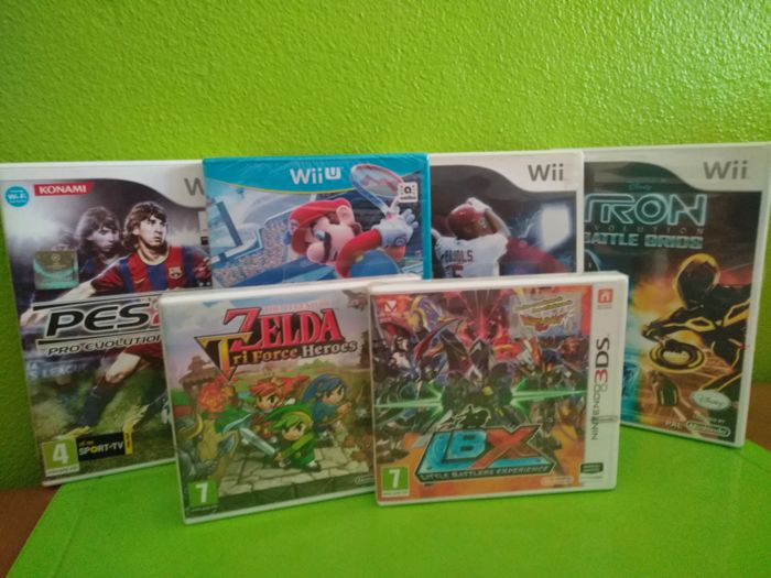6 games for Nintendo Wii U, Wii and 3DS (with Mario and Zelda games)