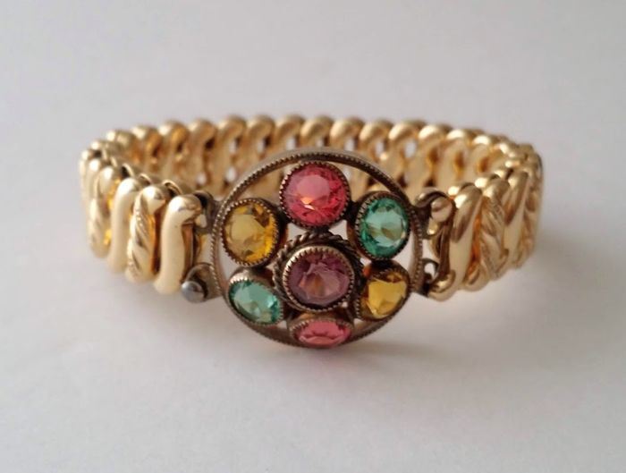 "The D.F.B. Co. ""CARMEN"" Gold Filled Expansion Bracelet"