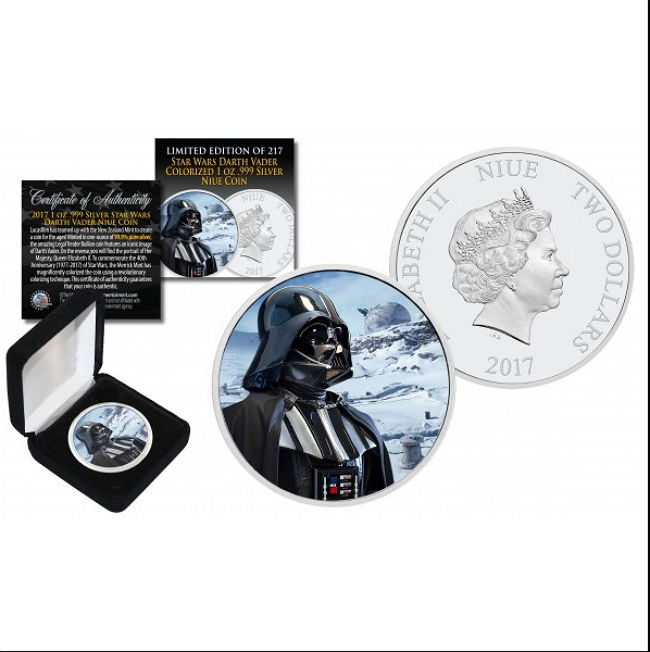 Niue - 2 Dollars 2017 'Star Wars - Darth Vader Hoth Snow Planet Backdrop - Colour Edition  - with Box & certificate - edition 217 pieces - 1 oz silver