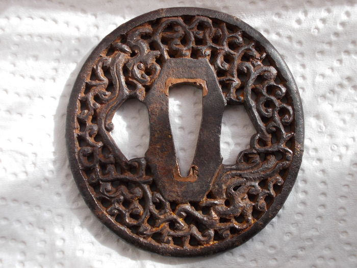 Nanban tsuba - Japan - 18th/19th century (Edo period)