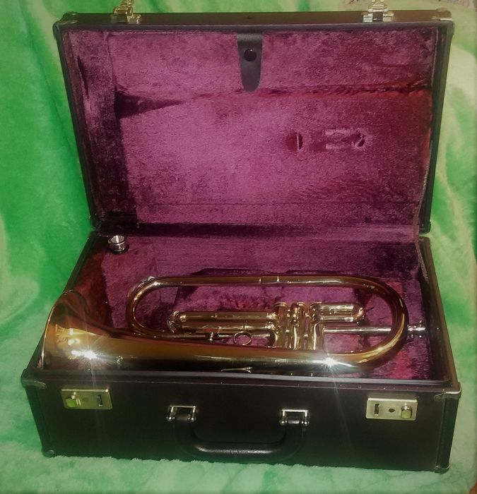 Boosey & Hawkes flugelhorn, Besson International 1-747- model produced in the factory of London, England, in 1993
