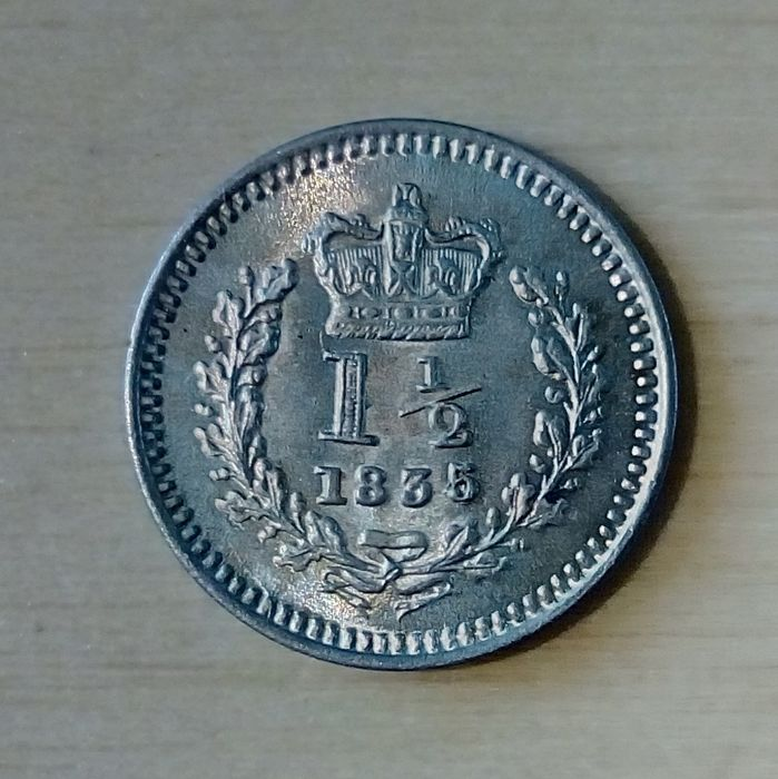 Grande Bretagne 1 12 Pence 1835 4 William Iv Argent Catawiki