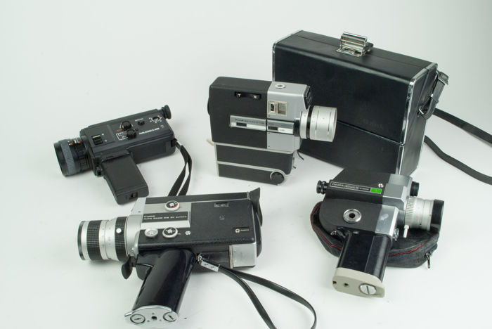 Lot of 4 super8 cameras