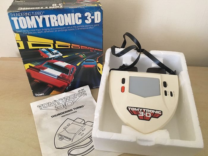 Ultra Rare - 1983 TomyTronic 3D Thundering Turbo  in Original Box - Edition Number 7617