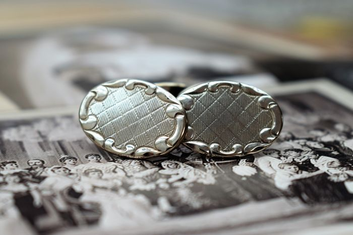 Art Deco Silver Cufflinks