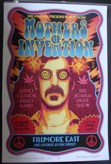 Frank Zappa / Mothers of Invention New York Fillmore East  1968 Artist Edition