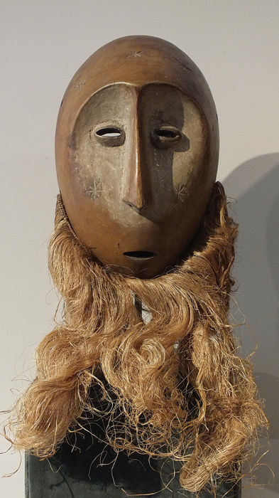 Masker - Hout - Finely Executed Lega Mask - Luba - Democratische Republike Congo