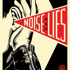 Shepard Fairey (OBEY) - Noise and Lies (cream)