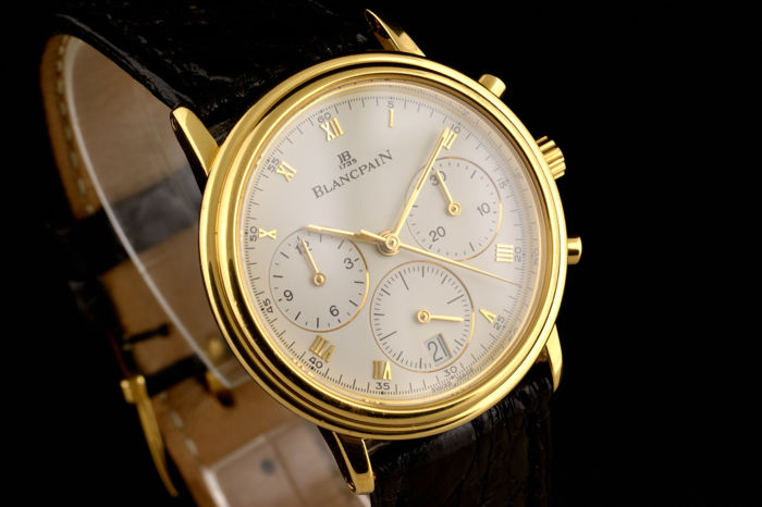 Blancpain - Excellent Villeret Chronograph Automatic Gold 18K - Heren - 1990-1999