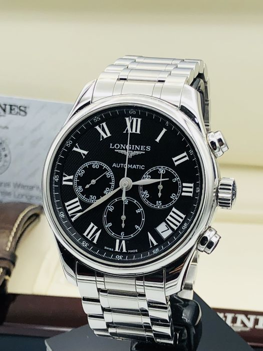 Longines - Master Collection Chronograph 44 MM Automatic  - L2.693.4 - Men - 2016
