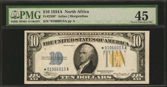 VS - 10 dollars 1934A - North Africa issue - Fr.2309 - STAR-note