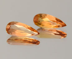 "Pair of Imerpial Topazes - 1.62 ct in total - ""No reserve price"""