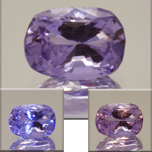 Colour-changing Violet-Pink Sapphire - 1.21 ct