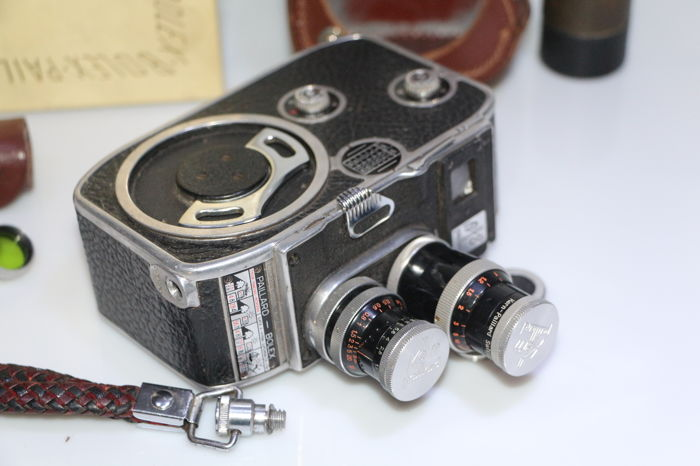 camera paillard bolex B8 with 2 lenses, filters and box